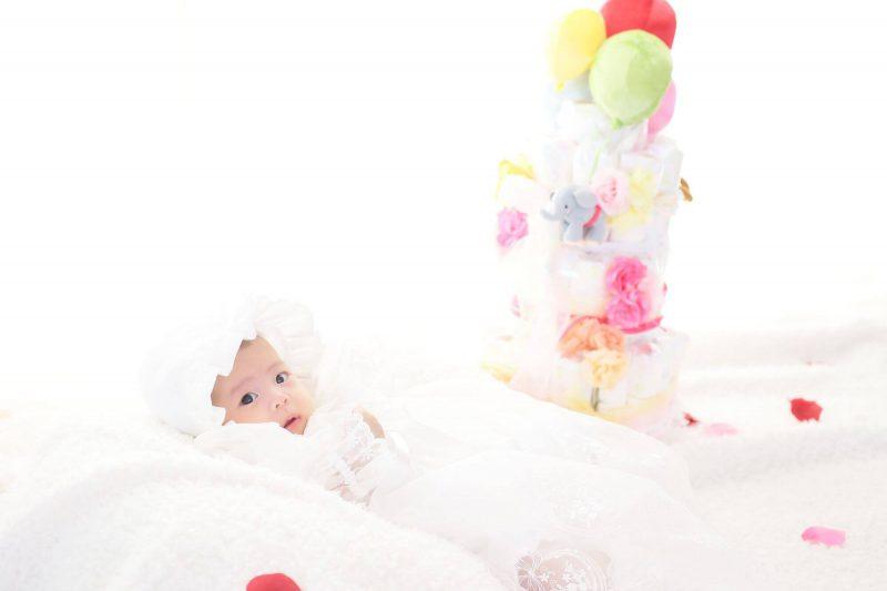 出産祝いにおすすめのおむつケーキ