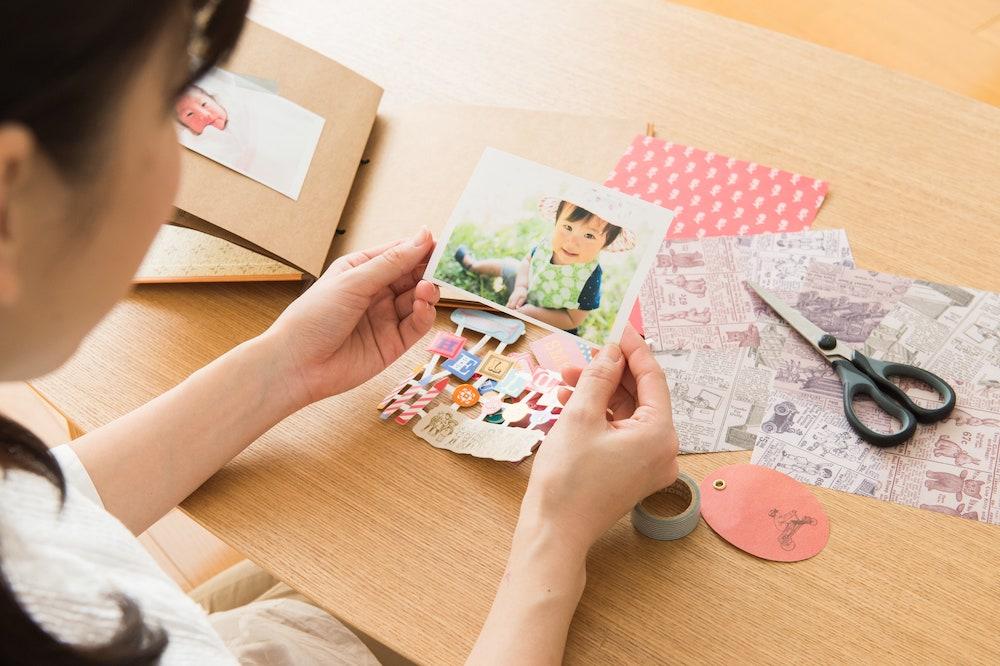 赤ちゃんの写真をアルバムにする方法