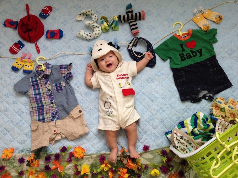 赤ちゃんの記念写真を手作りするコツ